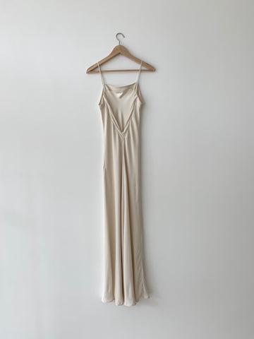 KAMPERETT | LONG SILK SLIP | IVORY