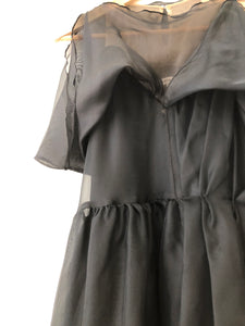 Frankie Silk Organza Dress | Black