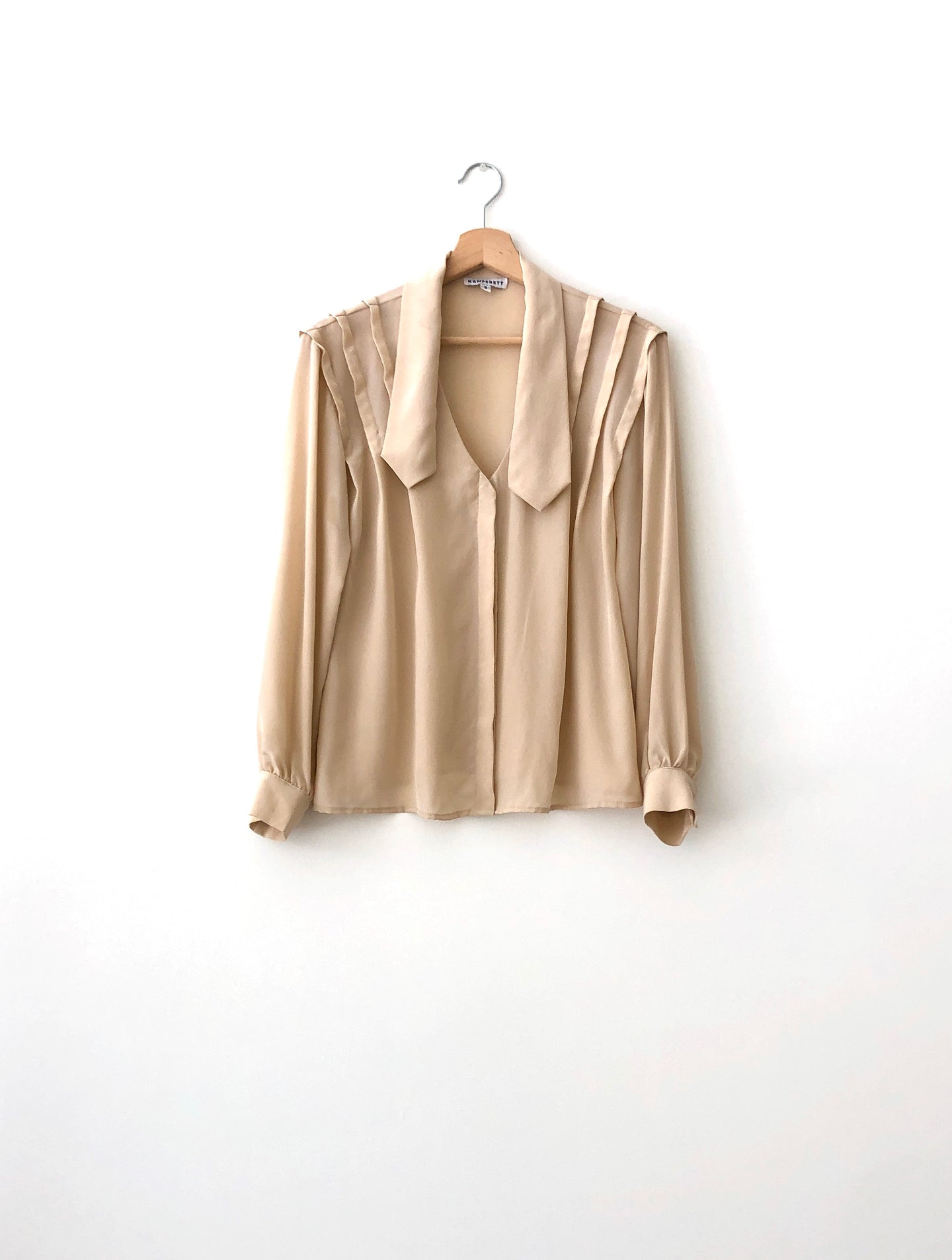 ANAISE x KAMPERETT SILK GEORGETTE BLOUSE