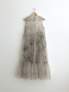 MAE SILK ORGANZA DRESS | HAND PAINTED TO ORDER