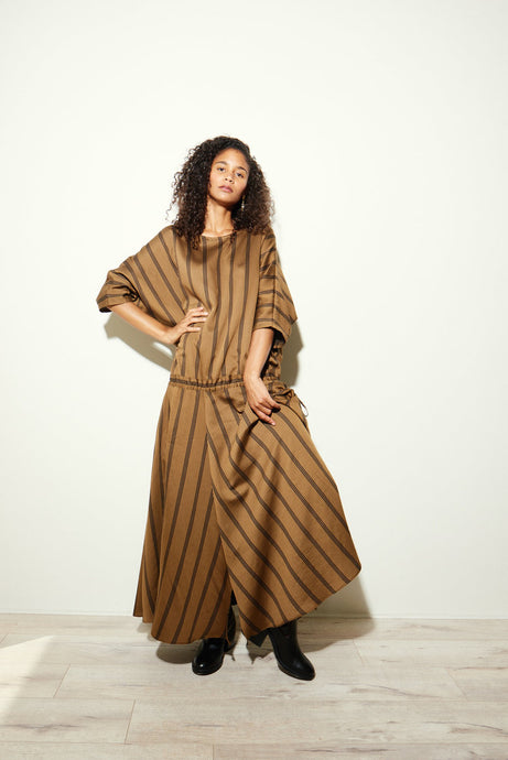 KAMPERETT | Tux Dress | Japanese Cotton | Stripe
