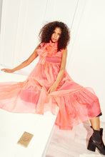 Load image into Gallery viewer, KAMPERETT | Mae Silk Organza Dress | Coral