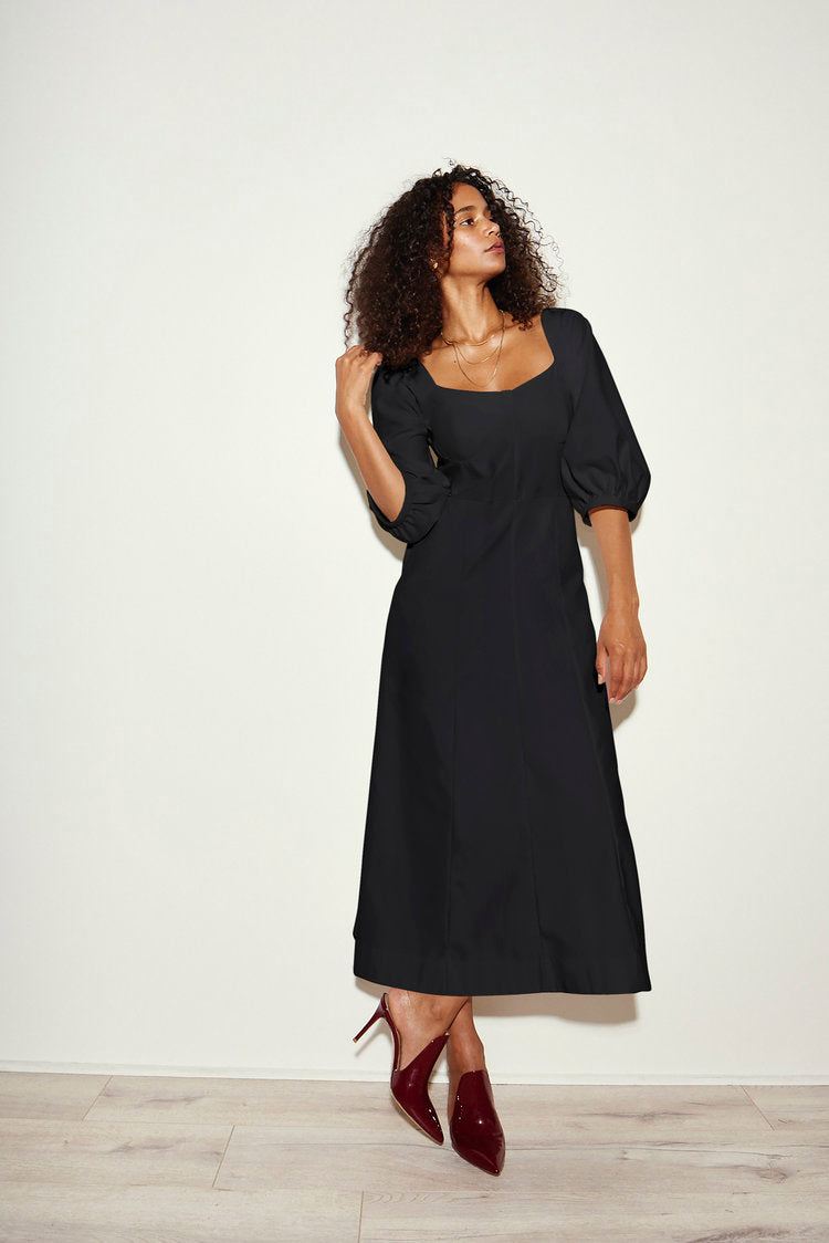 KAMPERETT | Rooftop Dress | Black Cotton