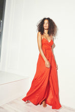 Load image into Gallery viewer, KAMPERETT | Nuit Silk Wrap Dress | Persimmon