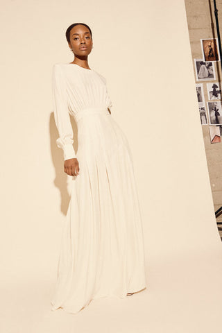 KAMPERETT | Harper Silk Maxi Dress | Ivory