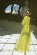 Load image into Gallery viewer, KAMPERETT MEIERE SILK ORGANZA GOWN | CHARTREUSE