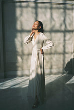 Load image into Gallery viewer, KAMPERETT LINDEN SILK MAXI WRAP DRESS | IVORY
