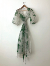Load image into Gallery viewer, KAMPERETT | LORETTA SILK ORGANZA DRESS | MEMORIES PRINT