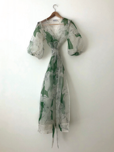 KAMPERETT | LORETTA SILK ORGANZA DRESS | MEMORIES PRINT