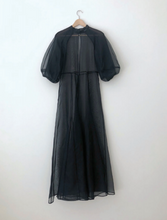 Load image into Gallery viewer, KAMPERETT, MEIERE SILK ORGANZA GOWN, BLACK