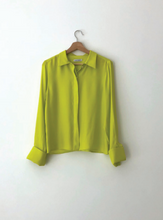 Load image into Gallery viewer, KAMPERETT PEREGRINE SILK BLOUSE | CHARTREUSE