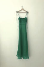 Load image into Gallery viewer, KAMPERETT RAE SILK ORGANZA DRESS | KELLY GREEN