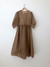 Load image into Gallery viewer, STENT DRESS | SILK ORGANZA | COFFEE (PRE ORDER)