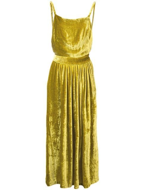 ROMY DRESS | CHARTREUSE VELVET