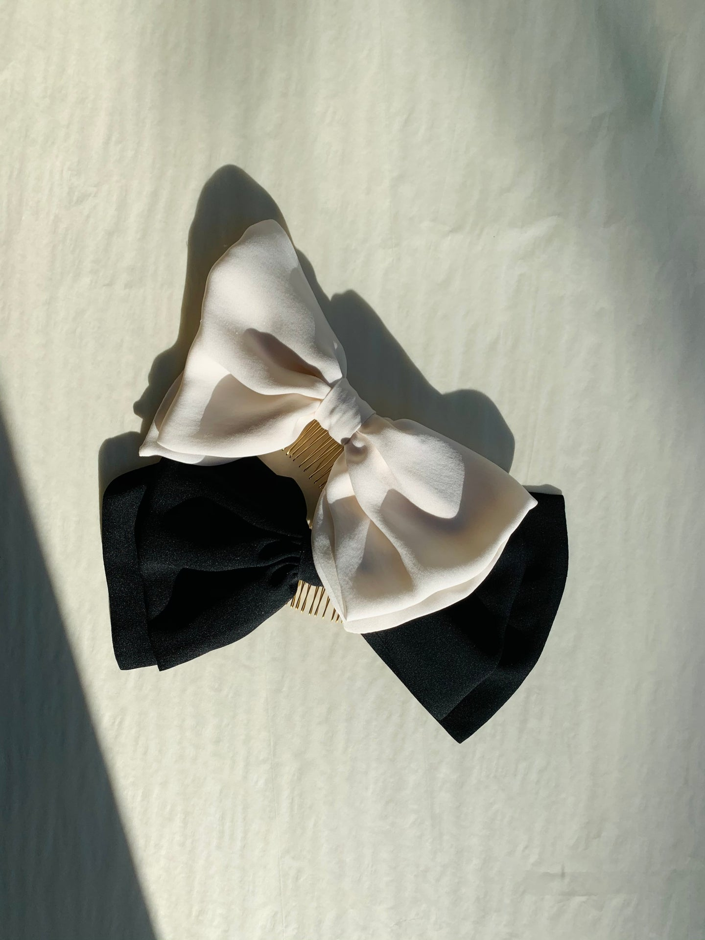 SMALL SILK GEORGETTE BOW