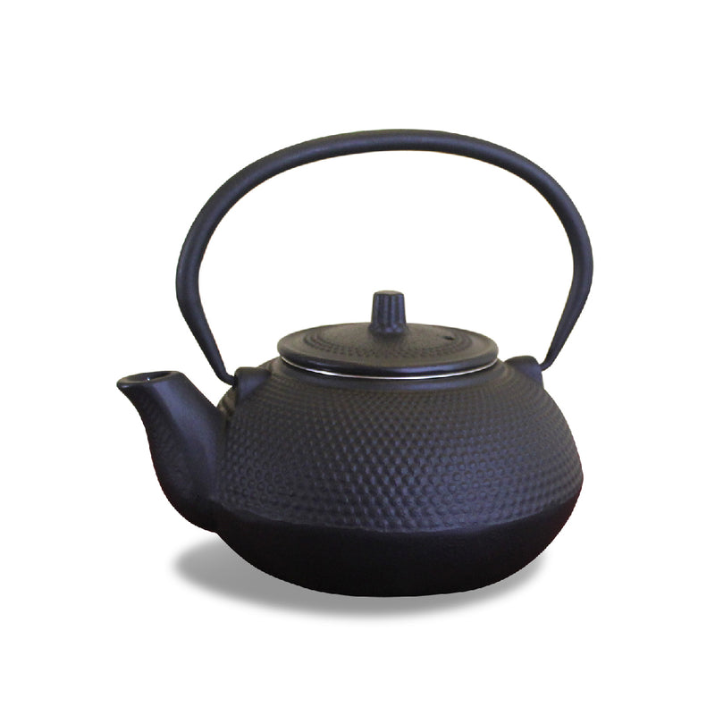 Cast Iron Teapot Black