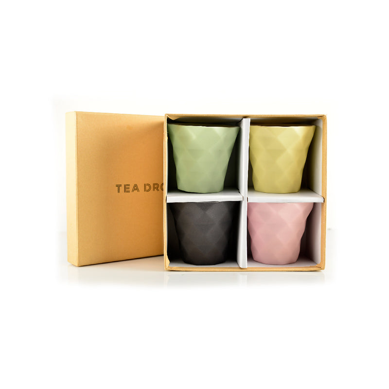 Tea Drop designer cups 4pk