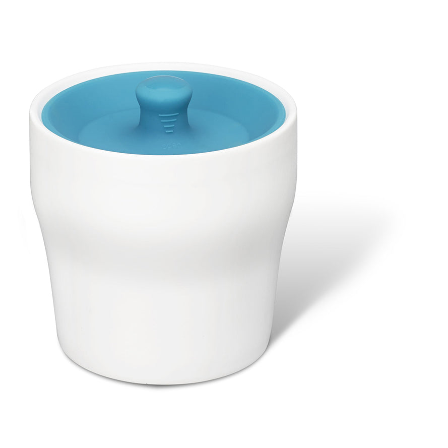 Airtight Canister (White /Blue Lid)