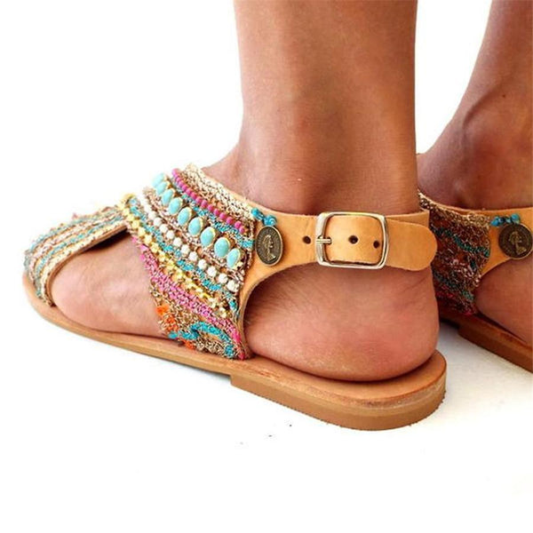 Fashion Vintage Bohemian Flat Loafers Sandals