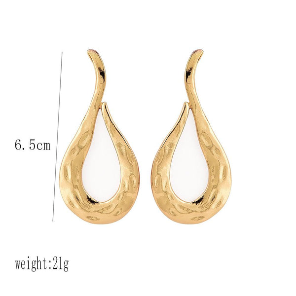 Fashion   Personality Exaggerated Lava Metal Wind Women's Large Earrings Earrings