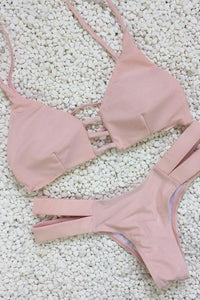 Sexy Pink Swimsuit Set