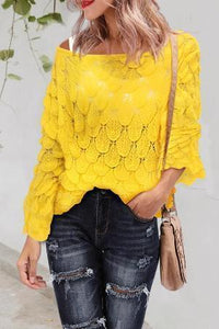 Women Hollow Out Knitted Sweater
