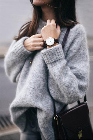 Fashion Mohair Fleece Loose Sweater