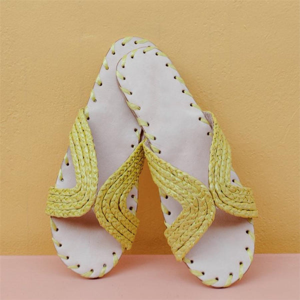 Fashion Versatile Woven Flat   Slippers sandals