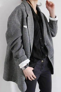 British Style Fashion Flip Collar Pocket Collage Long Sleeve Suits