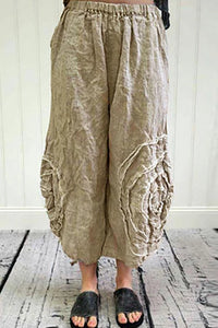 Casual Cotton And Linen Loose Long Wide Leg Pants