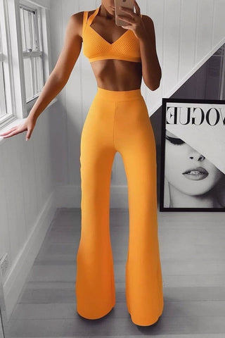 Sexy Off-Shoulder Pure Colour Sleeveless Jumpsuit