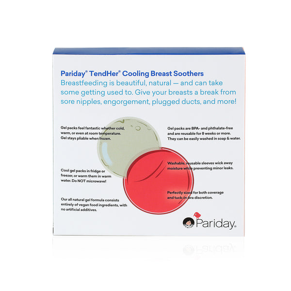 TendHer Cooling Breast Soothers - Reusable Hot or Cold Packs for Nursing Pain Relief