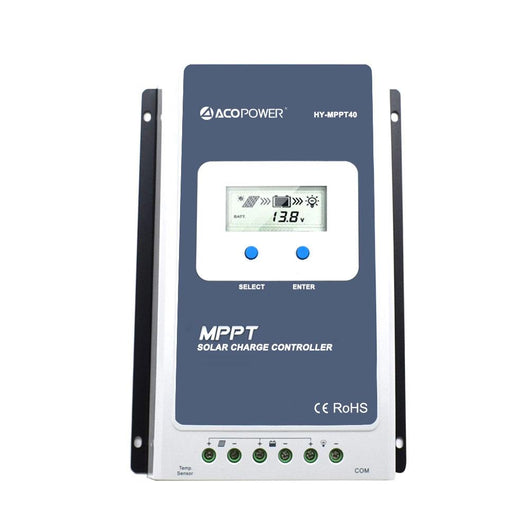 ACOPOWER 40A MPPT 100V Solar Charge Controller with LCD Display (HY4210A)