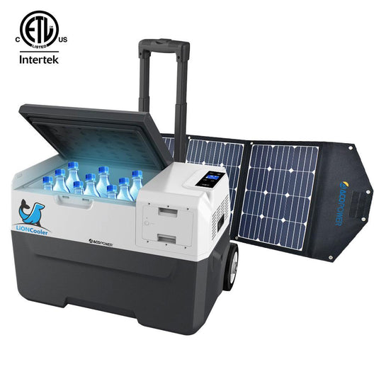 LiONCooler Combo, Portable Solar Fridge/Freezer and 90W Solar Panel