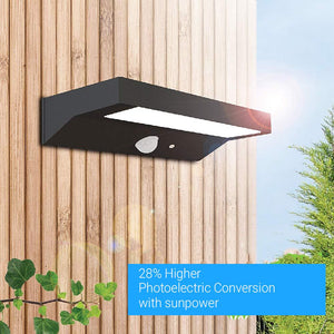 Solar Smart LED Wall Lamp-6W, Rectangle with PIR Sensor, (HY01WSRB)