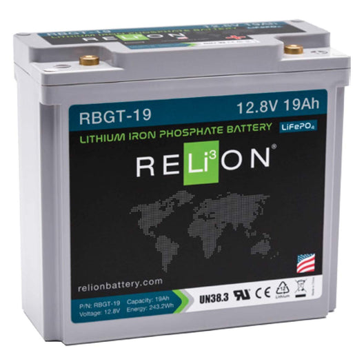 RELION RBGT-19, 12V 19AH LIFEPO4 BATTERY