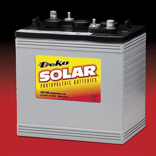 1.3kWh DEKA Solar AGM Deep Cycle Battery 6V 220 Ah@C/100 Hr Rate (8AGC2-DEKA)
