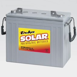 DEKA Solar Gel Deep Cycle Battery, 12V, 125Ah (8G5SHP-DEKA)