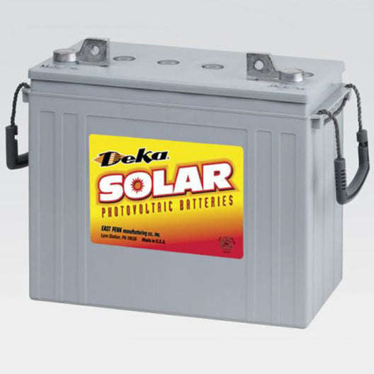 DEKA Solar Gel Deep Cycle Battery, 12V, 137Ah (8G5SHP-DEKA)