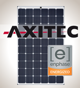 1.1 kW Kit Axitec 295 Silver, Enphase