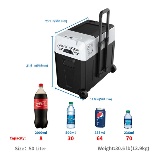 Acopower Portable Solar Fridge 52 Quarts / 50 Litre 2018,  R50A