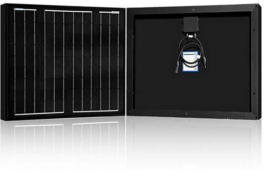 ACOPOWER 50W Monocrystalline All Black Solar Panel (HY050-12MB)