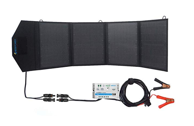 ACOPOWER 50 Watt 12V Portable Solar Panel Kit (HY-4x12.5W18V)