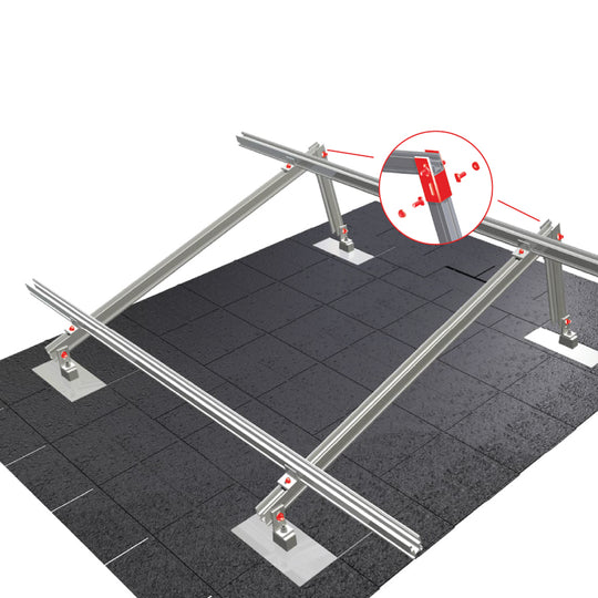 "Everest Solar Systems 166"" CrossRail System, 48-X MILL"