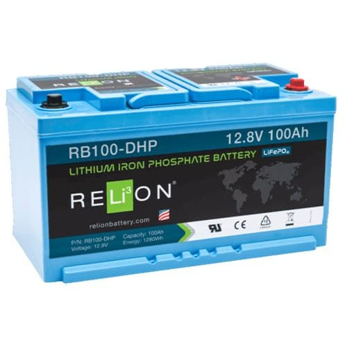 RELION RB100-DHP, 12V 100AH DIN LIFEPO4 BATTERY