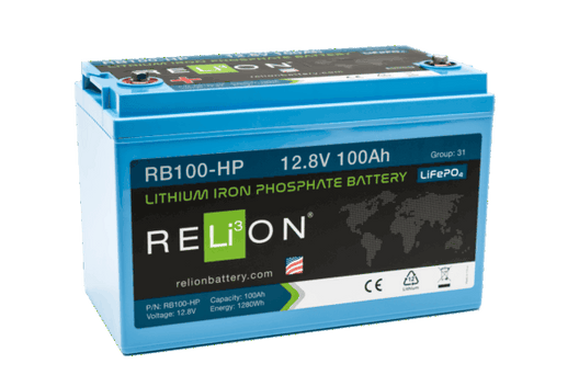 RELiON RB100-HP 100 Amp-hour Lithium Ion 12 Volt Battery