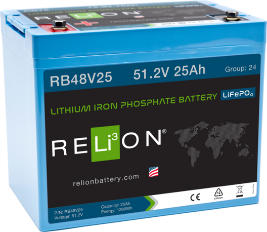 RELION RB48V25, 48V 25AH LIFEPO4 BATTERY
