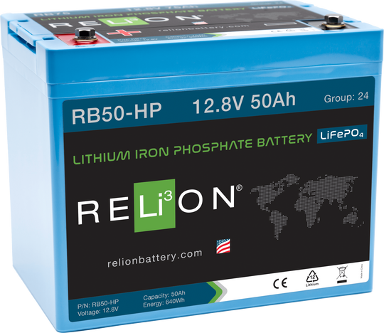 RB50-HP - 12v 50Ah High Performance Lithium Battery