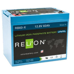RELION RB60-X, 12V 60AH LIFEPO4 BATTERY