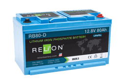 12V 80-D LIFEPO4 BATTERY, M8 Terminal Type